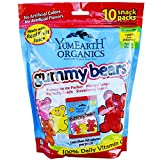 yummy earth gummy bears - Yummy Earth Organic Gummy Bears Family Size .9 oz 10-Count