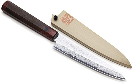 Amazon.com: Yoshihiro cubertería NSW Hammered Damasco ...