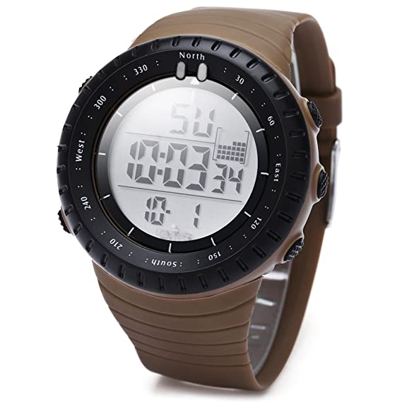 Leopardo tienda OTS 7005 Hombres Digital LED reloj deportivo Alarma Calendario Cronógrafo Diaplay correa de caucho resistente al agua reloj de pulsera # 4: ...