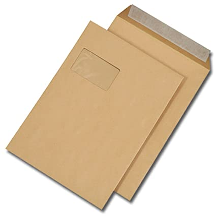 500 Bolsas de envío C4 229x324mm pegamento adhesivo Con ...