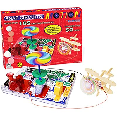Snap Circuits Motion Electronics Exploration Kit | Over 165 Exciting STEM Projects | 4-Color Project Manual | 50+ Snap Modules | Unlimited Fun: Toys & Games
