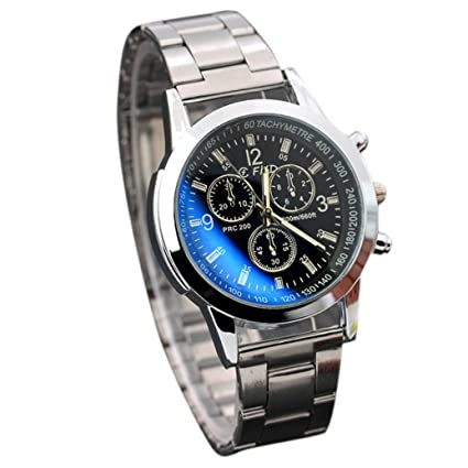 a99f0988d8e Amazon.com  Willsa Stainless Steel Sport Luxury Carved Dial Automatic  Mechanical Bracelet Waterproof Quartz Wrist Watch (Black)  Health    Personal Care
