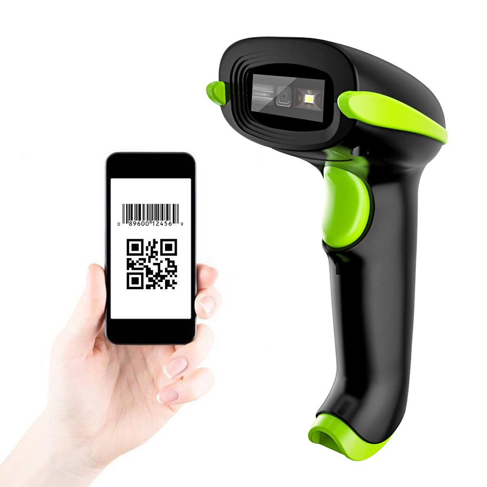 NADAMOO 3-In-1 2D Barcode Scanner, Bluetooth & 2.4G Wireless & USB Wired CMOS Image Bar Code Reader For QR PDF417 Data Matrix Screen Code USB Scanner with Mobile Payment Computer Screen