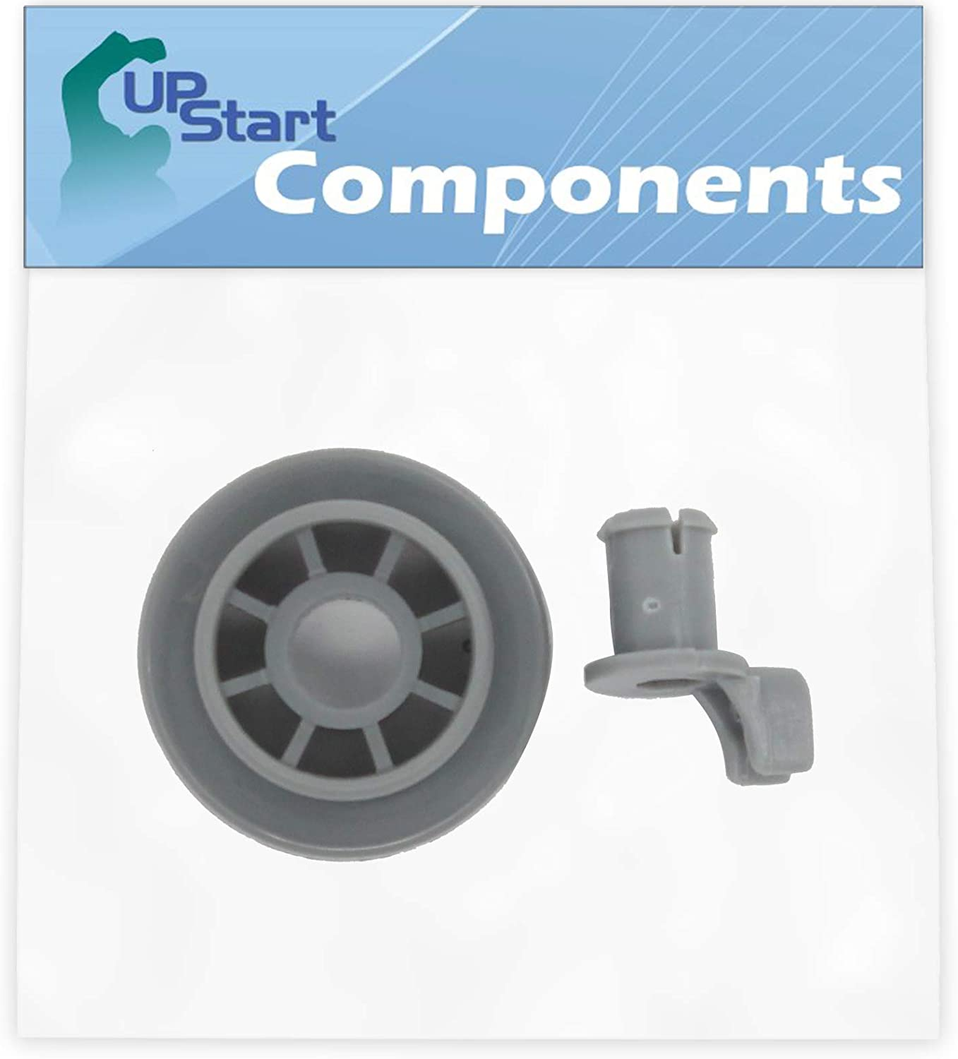 165314 Dishwasher Lower Dishrack Wheel Replacement for Bosch SHE4AM12UC/01 Dishwasher - Compatible with 00165314 Lower Rack Roller - UpStart Components Brand