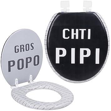 Promobo - Abattant De Toilettes WC Design Humour Fun Chti Pipi Gros ...