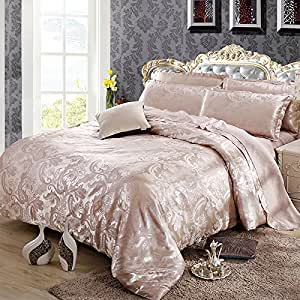 Satin Jacquard four set bedding wedding,Queen,N