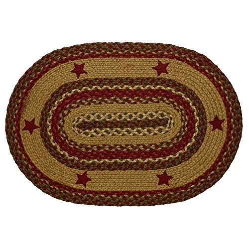 - IHF Rugs Cinnamon Star Oval Braided Rug - 4x6