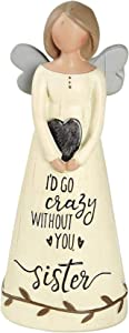 Blossom Bucket I'd GO Crazy Without You Sister Angel Decoration, Multi-Color