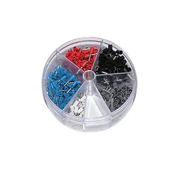 Sortiment Aderendhülsen in Streudose isoliert für 0,5-2,5 mm² Litze Set
