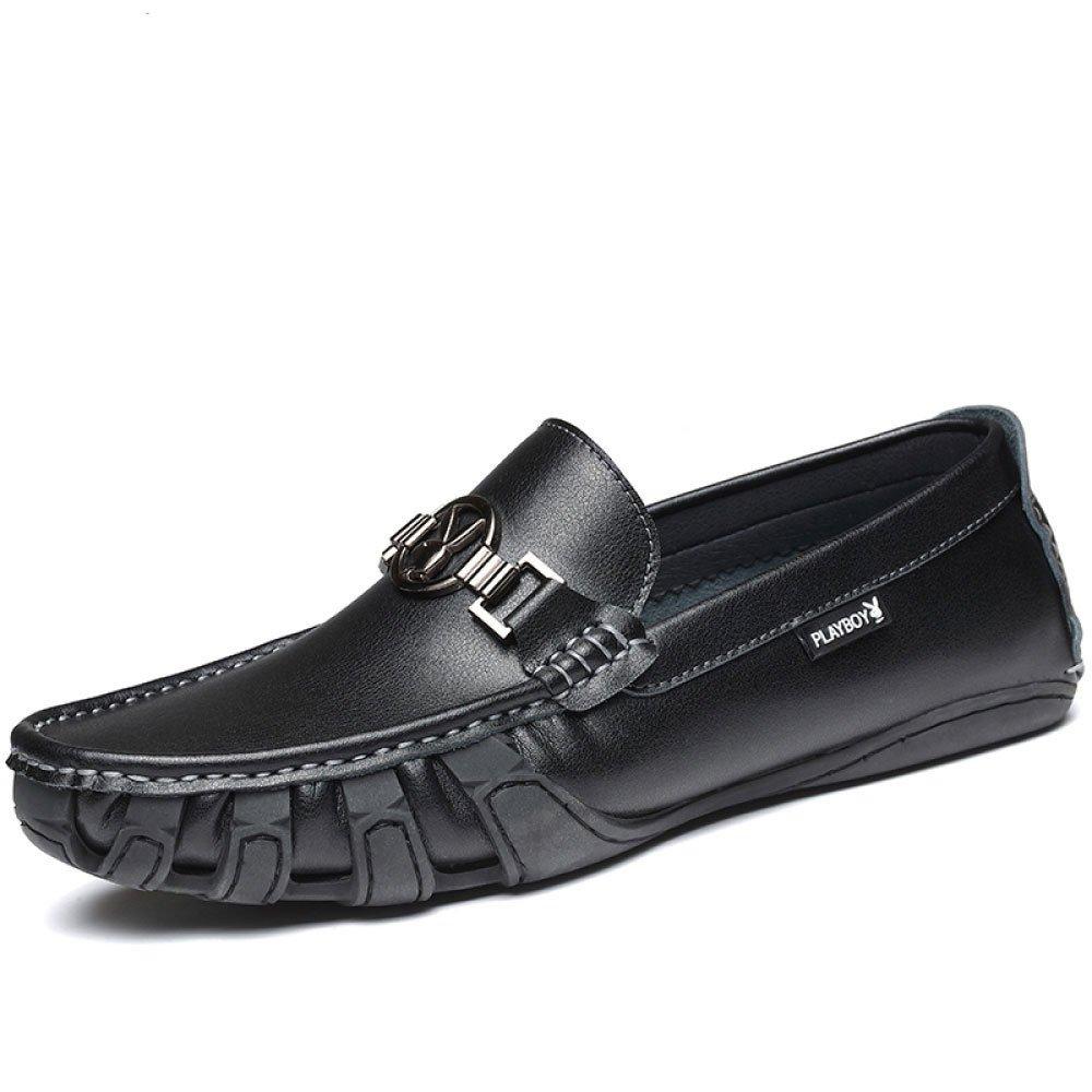 Herrenschuhe Casual Aus Echtem Leder Casual Herrenschuhe Lederschuhe Slip-on Fashion schwarz b2666c
