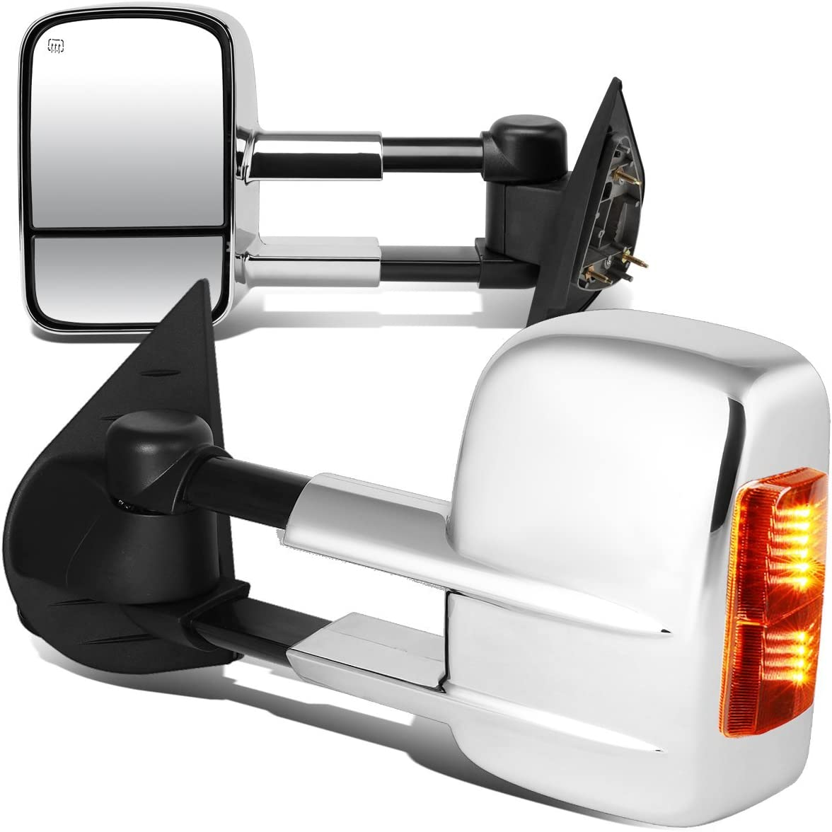 DNA Motoring TWM-003-T999-CH-AM Charlotte Mall Deluxe Pair Towing of Mirrors Side