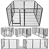 ZENY Foldable Metal Exercise Pen & Pet Playpen Puppy Cat Exercise Fence Barrier Playpen Kennel - 16 Panels/8 Panels (31.5' W x 39.4' H - 8 Panels)