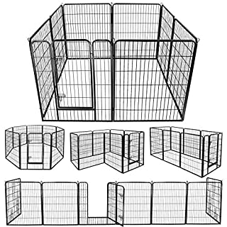 """ZENY Foldable Metal Exercise Pen & Pet Playpen Puppy Cat Exercise Fence Barrier Playpen Kennel - 8 Panels (31"""" W x 40"""" H)"""