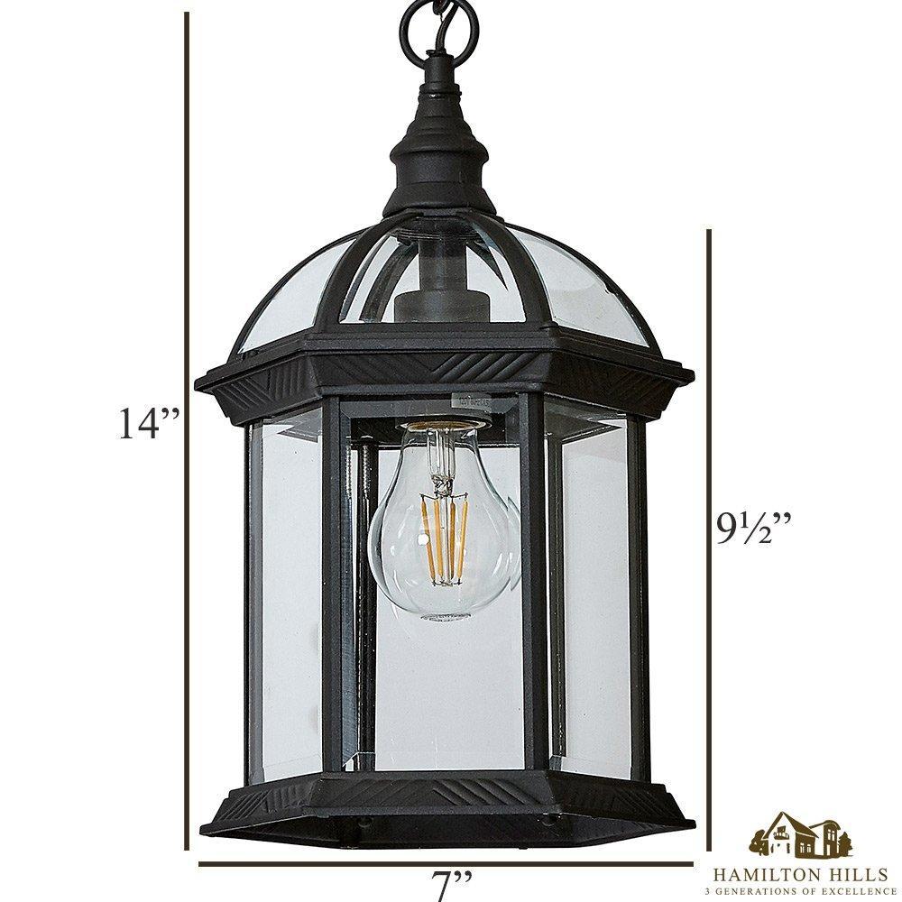 Amazon.com: Luces clásicas para exteriores | metal negro con ...