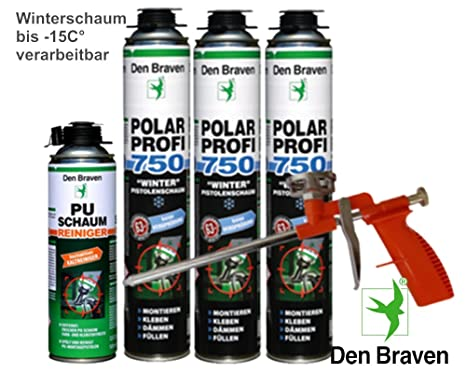 Premium Juego de 3 x polar Invierno Pistola de espuma (+ pistola y limpiador