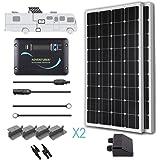 Renogy 200 Watts 12 Volts Monocrystalline Solar RV Kit with Adventurer