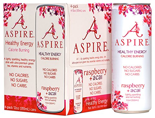 Aspire  Healthy Energy  Calorie Burning  Zero Calorie  Zero Sugar Drink Raspberry   Acai 4 Pack