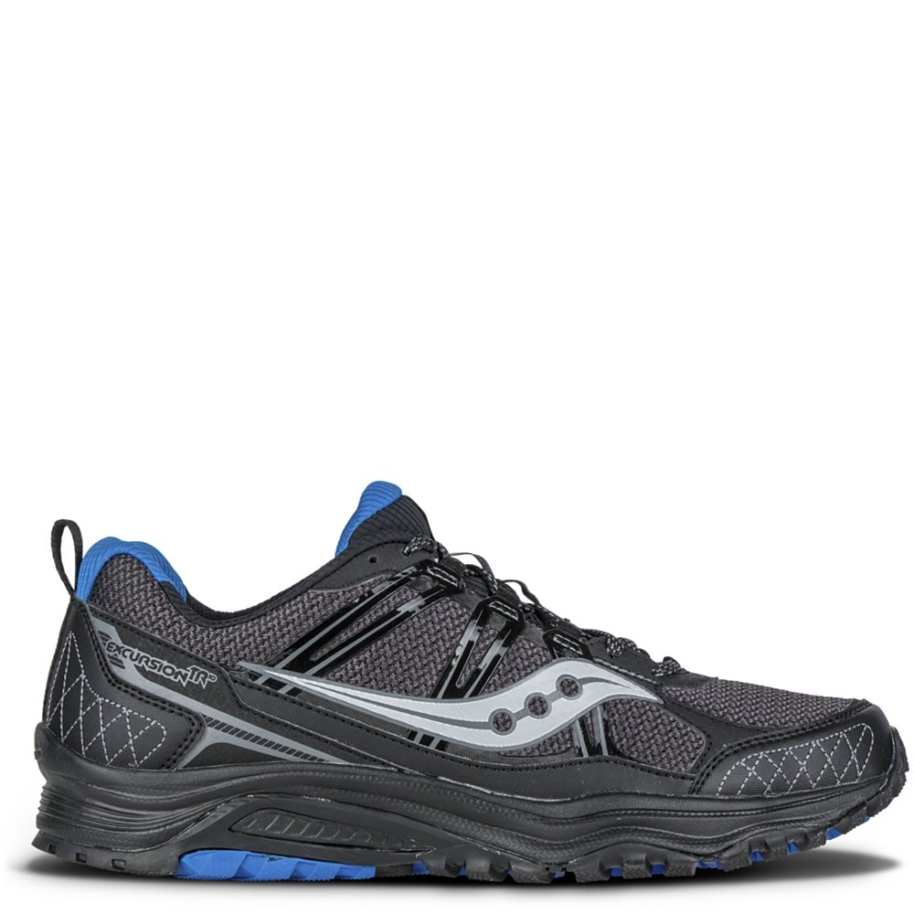 Saucony Men's Grid Excursion TR10 Running Shoe, Black/Royal, 8 M US