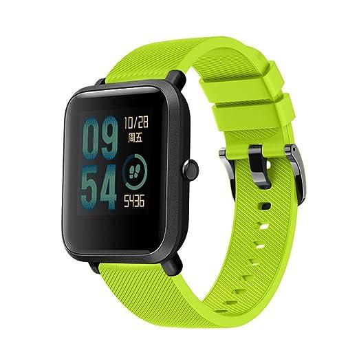 JKfine - Correa para Huami Amazfit Bip Youth Watch - Deporte Suave Silicona Accesorios Reloj Banda Wirstband para Huami Amazfit Bip Watch: Amazon.es: ...