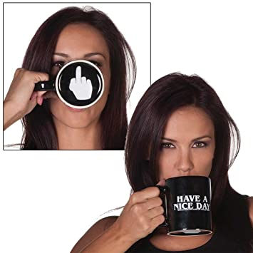 39353c0d830 Image Unavailable. Image not available for. Colour: HAVE A NICE DAY Funny  Coffee Mugs