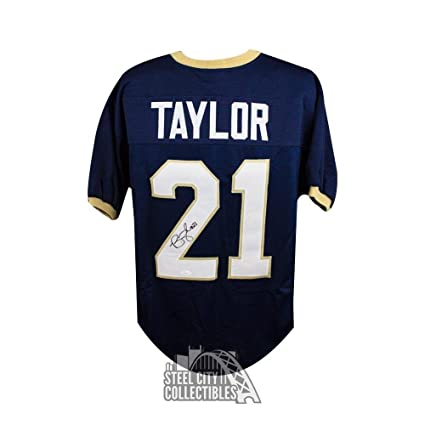 cheaper cdb49 1d04d Bobby Taylor Autographed Jersey - Notre Dame Custom COA ...