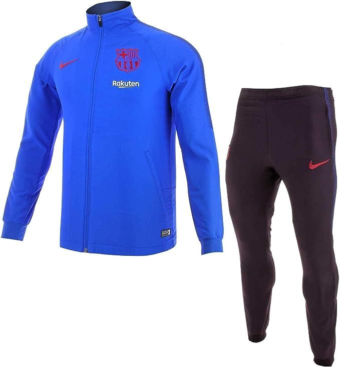 Nike Chándal Hombre Dri-FIT FC Barcelona Strike Azul/Granate ...