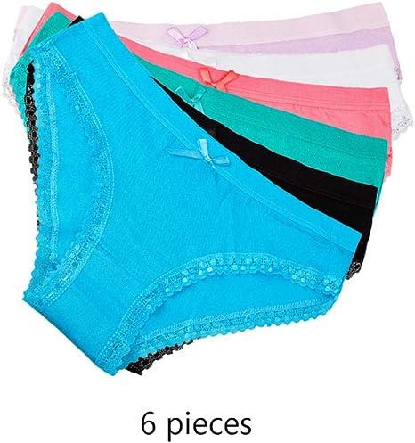 Calzoncillos de Mujer Ropa Interior Mujer Algodón Tanga Linda Bragas Lencería de Mujer 6 pcs/Set: Amazon.es: Deportes y aire libre