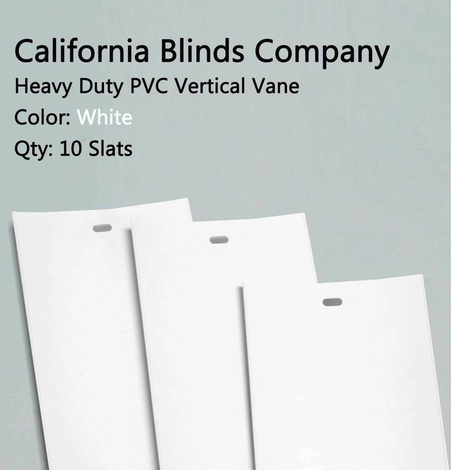 PVC Vertical Blind Replacement Slat Smooth (White) 10 Pk 82 1/2 x 3 1/2 by Royal Window Coverings