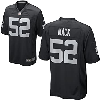 20c0356c4 Mens Oakland Raiders Khalil Mack Nike Black Game Jersey: Amazon.ca: Sports  & Outdoors