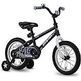 JOYSTAR Pluto Kids Bike with Training Wheels for 12 14 16 18 inch Bike, Kickstand for 18 inch Bike (Black Blue Red Green Oran