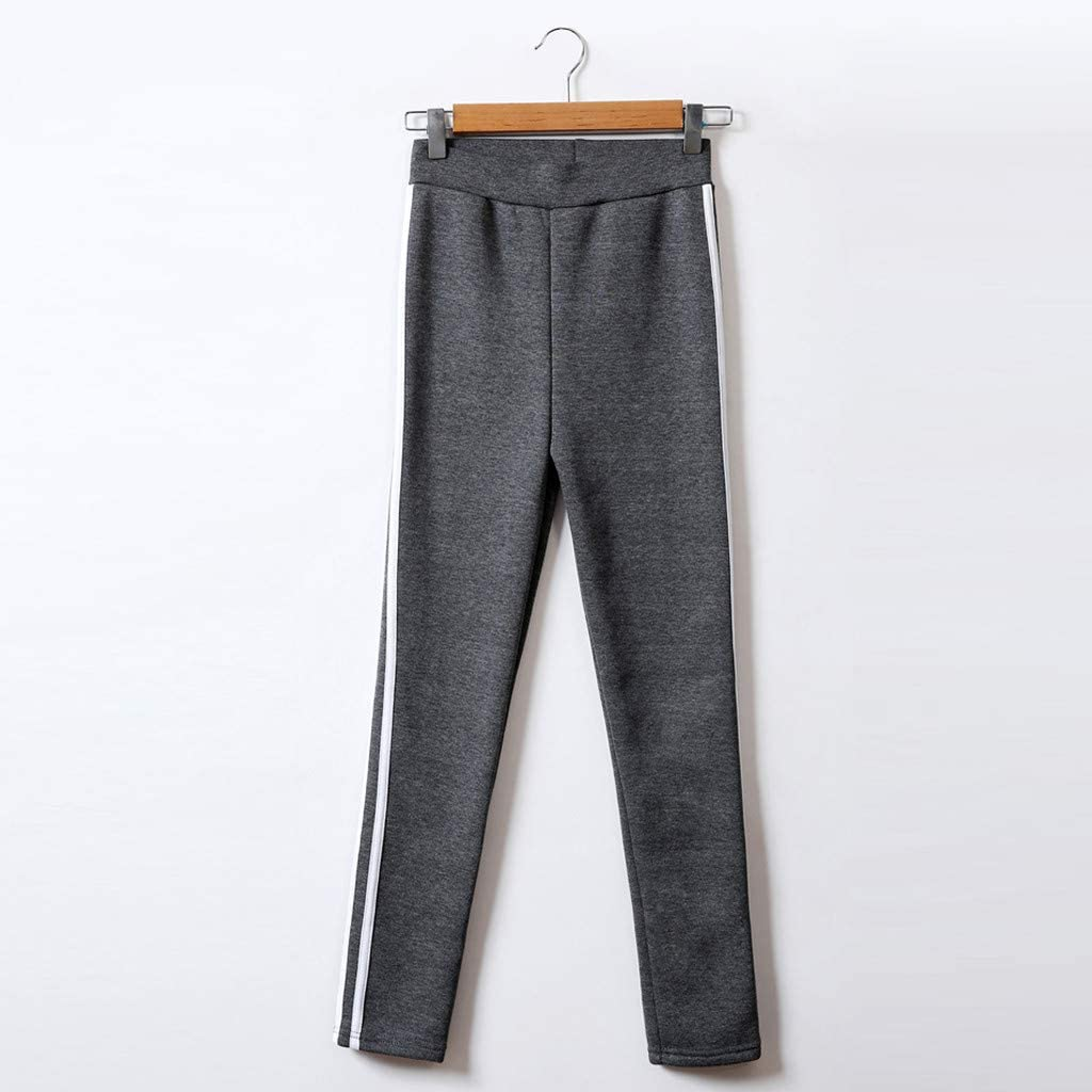 Toraway Ladiesstripe Printing Elastic Force Exercise Fitness and Running Yoga Pants Women Exercise Pants