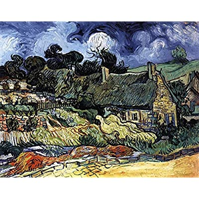 DDTOP Museum Collection Puzzles for Adults 1000 Piece, Difficult Vincent Van Gogh Thatched Cottages Jigsaw Puzzle, Challenge Yourself with 1000 Piece Puzzles: Toys & Games
