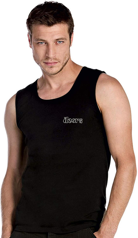 100/% Cotton /— 2165 caprica91 The Doors Rockband Fun Bestickte Logo T-Shirt Top Tank D/ébardeurs Garni de Broderies Super la qualit/é Prime
