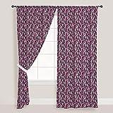 AZ Abstract Grunge Art Door & Window Curtain Satin 4feet x 11feet; SET OF 2 PCS