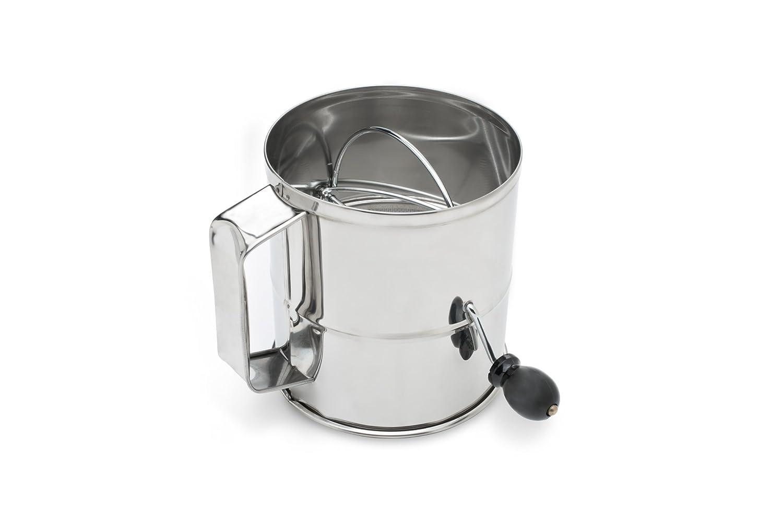 Fox Run 4638 Flour Sifter, Stainless Steel, 3-Cup