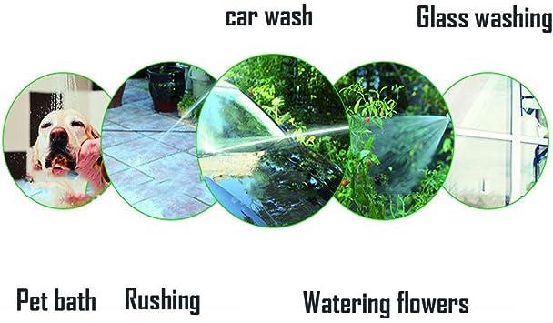 TXVSO Home Mejorado 100 pies Manguera de Agua Flexible para jardín, sin Pliegues, expandible, 3 Tiempos, Tubo de látex, Accesorios de latón Macizo Pistola pulverizadora de Metal, 2 Conectores: Amazon.es: Jardín