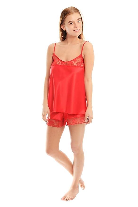 b2500c3dbdae Satin French Knickers & Matching Cami Top Set Silky Style Size 10-26:  Amazon.co.uk: Clothing