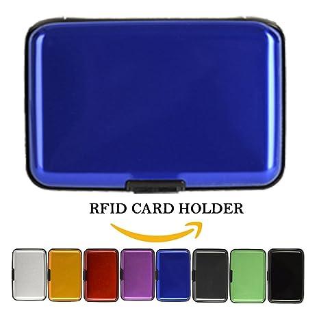 I3 C aluminio Cartera Tarjetas de Crédito Aluma Wallet con protección RFID Tarjetas de Crédito ID