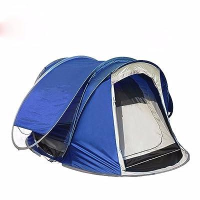 SJQKA-tente 2 secondes, vitesses automatiques tente, plus de 3 à 4 personnes, double le pont double porte de camping camper ensemble,b