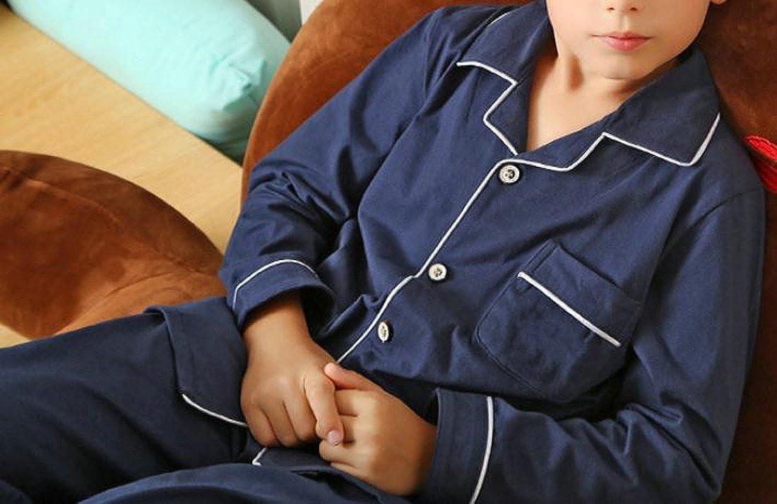 Pandapang Boys Comfort Cotton Shirt and Pant Sleepwear Pajama Sets