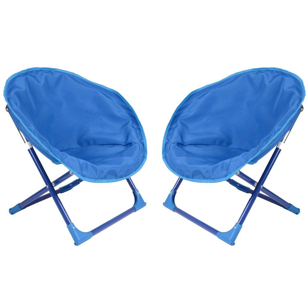 2 x Kids Bucket Moon Chair Garden Camping Indoor Outdoor Furniture ...