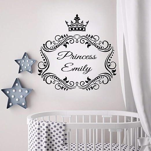 Etiqueta engomada Princesa Nombre personalizado Corona ...