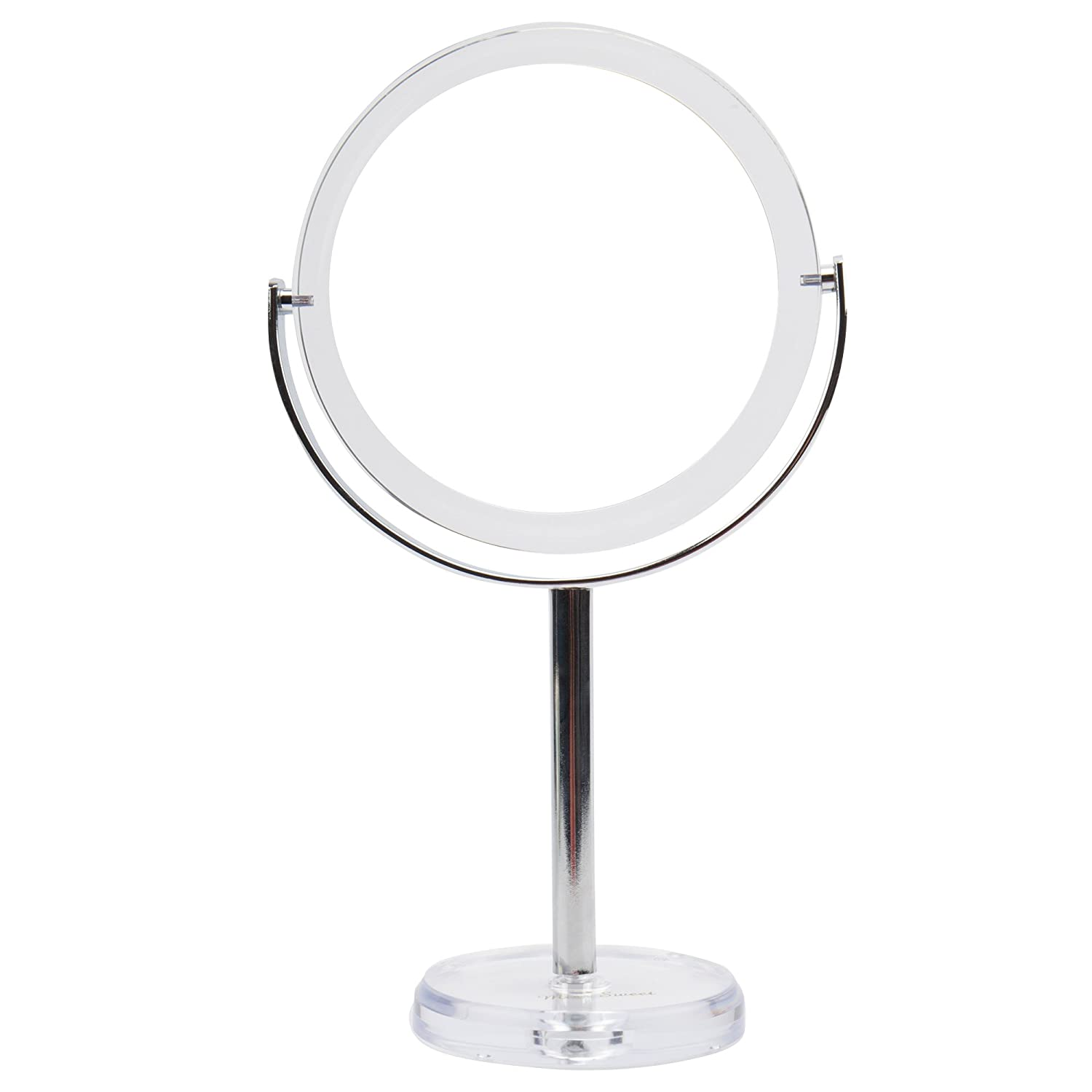 Miss Sweet Tabletop Makeup Mirror Vanity Mirror with 10X Magnification for Beauty Makeup (True image& 10X)