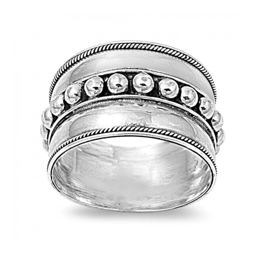 925 Sterling Silver Bali Design Ring Glitzs 10651