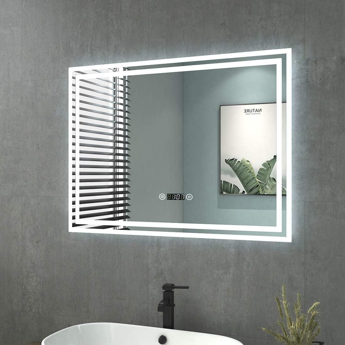 Spiegelschrank 80 Cm Inkl Led Beleuchtung Doppelt Verspiegelt Spiegelschrank 80 Cm Spiegelschrank Led Beleuchtung