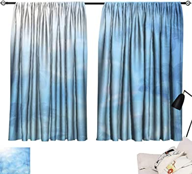 Amazon.com: SINXY\CASE red Curtains Blue Background with Palms and