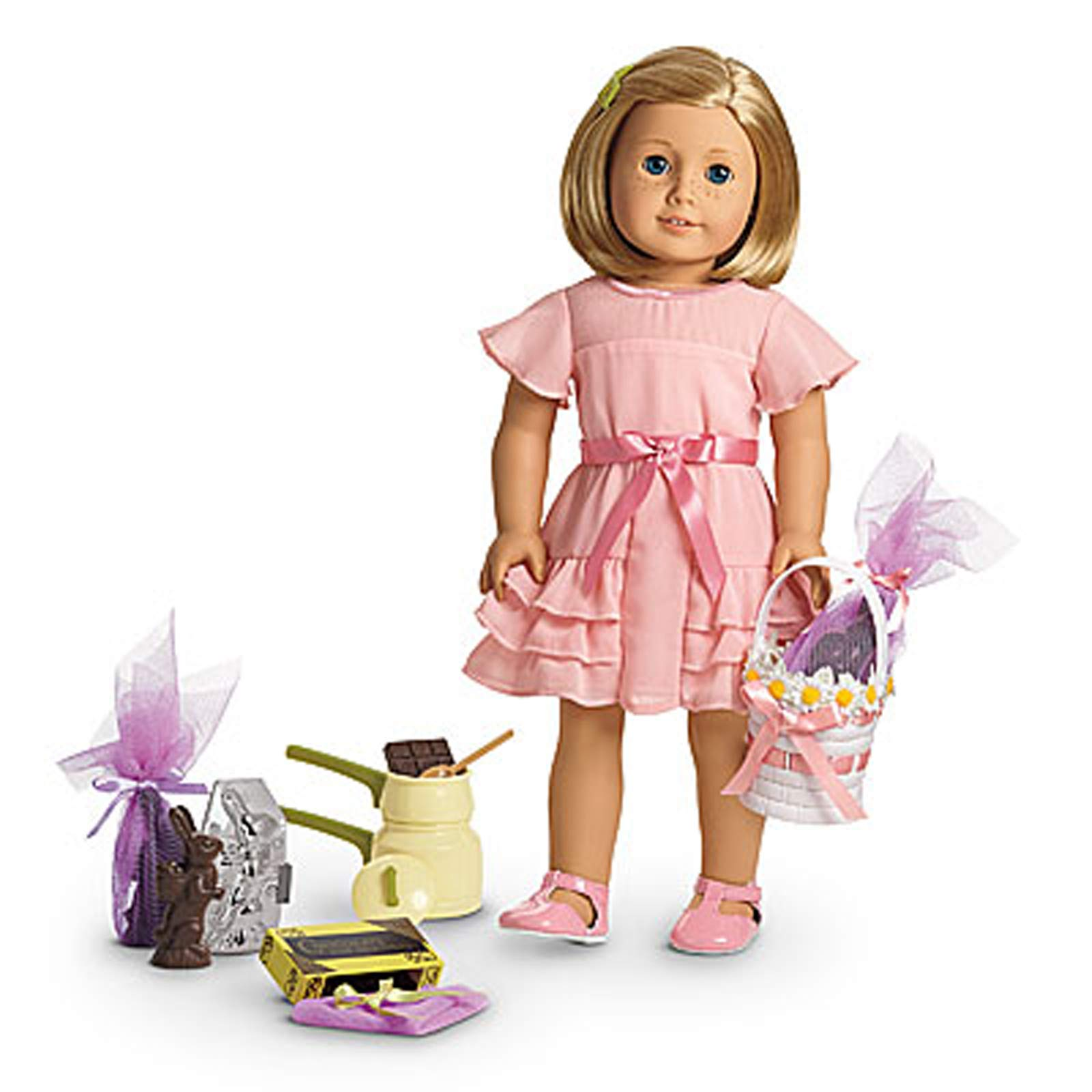 American Girl Limited Edition Kit's Easter Outfit and Candy Making Set