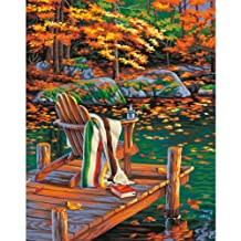 Dimensions  Crafts 73-91468 Paint Works Paint by Number Kit, Golden Pond