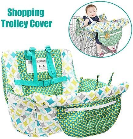 Walmeck Baby Shopping Cart Mat Trolley Cover Soft Portable Seat Pad