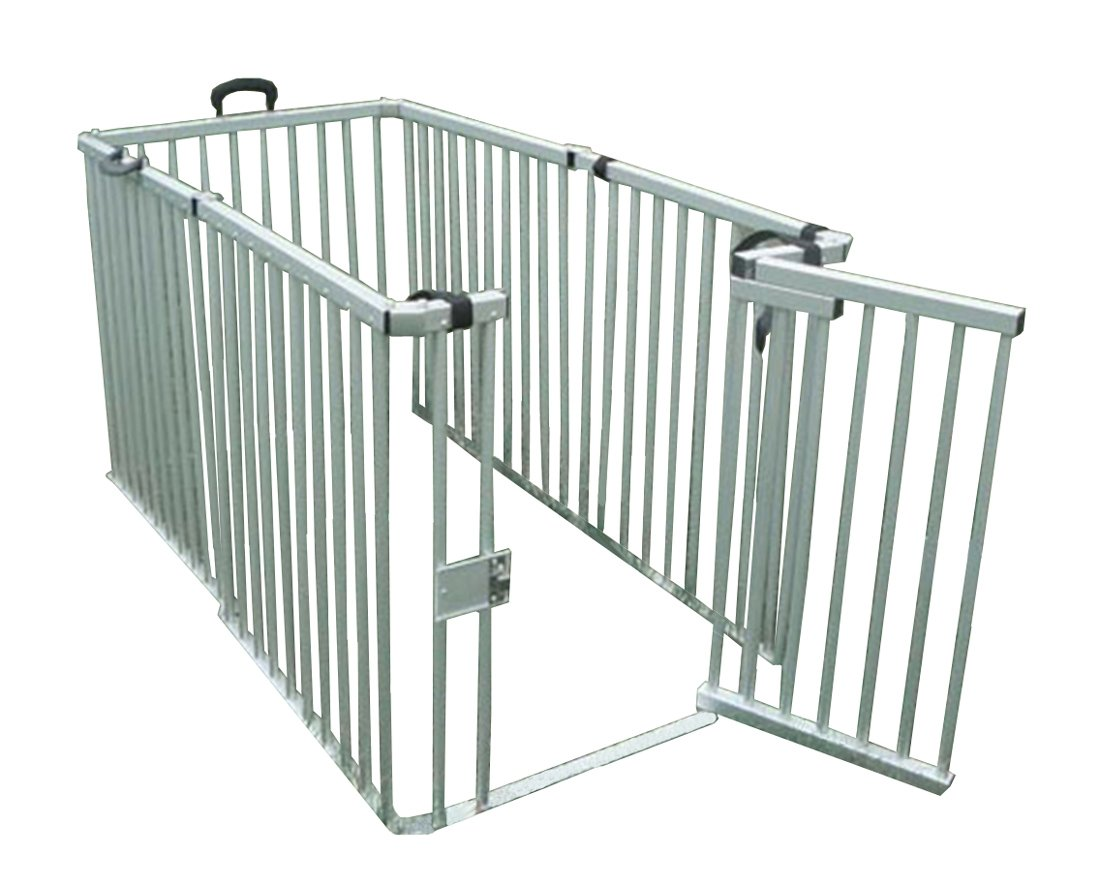 Cool Runners Secure Aluminum Portable Expandable Pet Enclosure 6 Sections (36''H x 30''L per Section) Lightweight & Collapsible